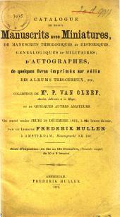 Veilingcatalogus, boeken van P. van Cleeff ... [et al.], 19 december 1872
