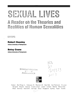 Sexual Lives  A Reader on the Theories and Realities of Human Sexualities PDF