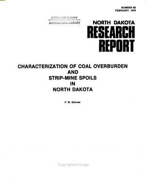 Characterization of Coal Overburden and Strip mine Spoils in North Dakota