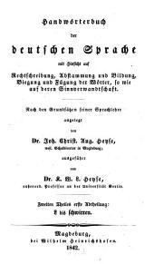 Handwörterbuch der deutschen Sprache: L bis Steg, Band 2,Ausgabe 1