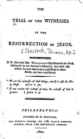 The Trial of the Witnesses  of the Resurrection of Jesus PDF