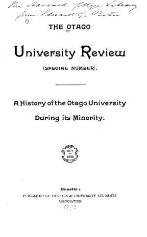 The Otago University Review