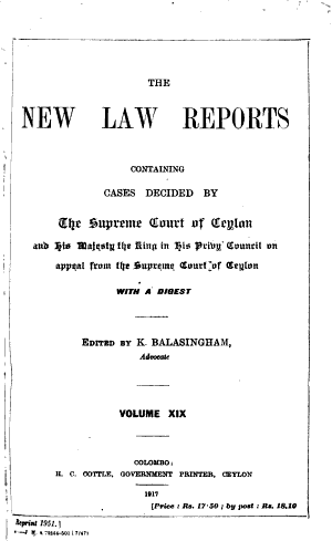 The New Law Reports