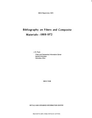 Bibliography on Fibers and Composite Materials--1969-1972