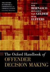 The Oxford Handbook of Offender Decision Making PDF