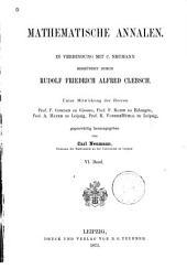 Mathematische Annalen: Volume 6