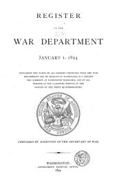 Register of the War Department: January 1, 1894 ...