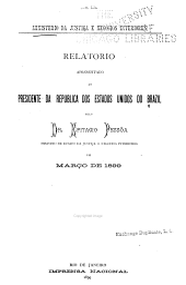 Relatório apresentado ao Presidente da Republica dos Estados Unidos do Brasil: Volume 1