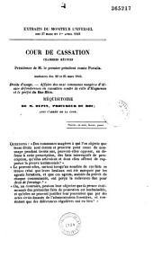 Réquisitoire dans l'affaire des communes usagères d'Alsace contre la ville d'Haguenau: dans mélanges tome 09, n°4