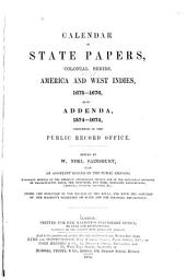 Calendar of State Papers: Colonial series ...