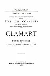 État des communes à la fin du XIXe siècle: Clamart - Colombes