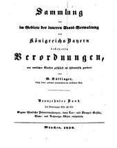 Sammlung der im Gebiete der inneren Staats-Verwaltung des Königreichs Bayern bestehenden Verordnungen: Bände 19-20