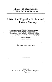 Bulletins of the State Geological and Natural History Survey of Connecticut