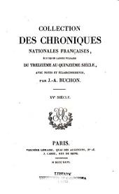 Collection des chroniques nationales françaises: écrites en langue vulgaire du treizième au seizième siècle, avec notes et éclaircissements, Volume35