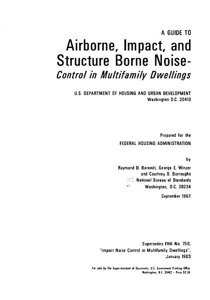 A Guide To Airborne Impact And Structure Borne Noise Control In Multifamily Dwellings