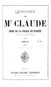Mémoires de Monsieur Claude: Volumes3à4