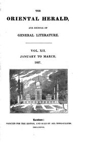 The Oriental Herald and Colonial Review: Volume 12
