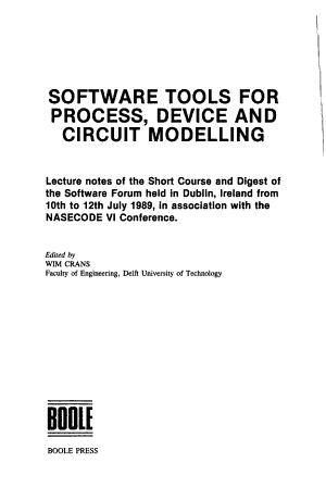 Software Tools for Process  Device and Circuit Modelling