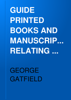 GUIDE PRINTED BOOKS AND MANUSCRIPTS RELATING TO ENGLISH AND FOREIGN HERALDRY AND GENEALOGY  PDF