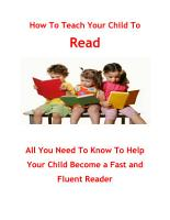 How To Teach Your Child To Read PDF