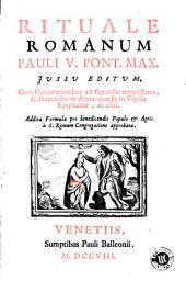 Rituale Romanum: Pauli V Pont. Max. jussu editum