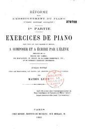 Réforme de l'enseignement du piano