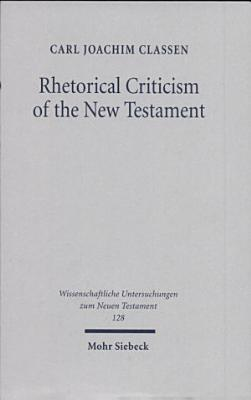 Rhetorical Criticism of the New Testament PDF