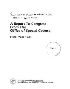 A Report to Congress from the Office of Special Counsel