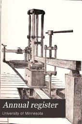 Annual Register: Volumes 1883-1886