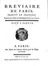 Breviaire De Paris: Esté ; 1, Volume3