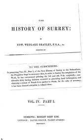 A Topographical History of Surrey: Volume 4, Part 1
