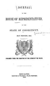 Journal of the House of Representatives of the State of Connecticut