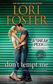 Don't Tempt Me: A Sneak Peek