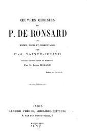 Œuvres choisies de P. de Ronsard