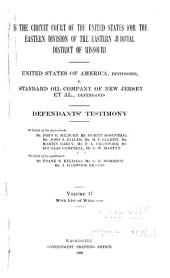 United States of America, Petitioner, V. Standard Oil Company of New Jersey Et Al, Defendants: Defendant's testimony
