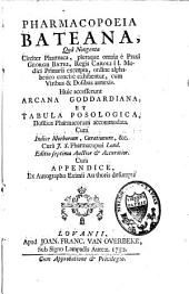 Pharmacopoeia Bateana