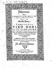 Disp. de exceptionibus et replicationibus