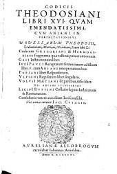 Codicis Theodosiani libri XVI