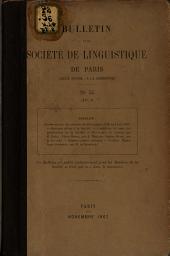 Bulletin de la Société de linguistique de Paris: Volume14,Partie2