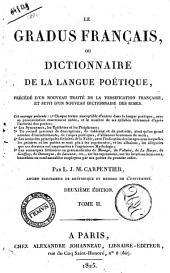 Le Graus Francais ou Dictionaaire de la Langue Poetique