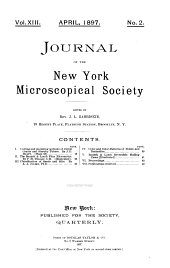 Journal of the New-York Microscopical Society: Volume 13