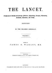 The Lancet: Volume 1; Volume 100
