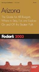 Arizona 2003 PDF
