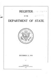 Register of the Department of State