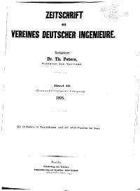 Zeitschrift des Vereines Deutscher Ingenieure PDF
