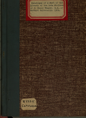 Catalogue of a Part of the Library of the Late Professor J. Henry Thayer, D.D., of Harvard University