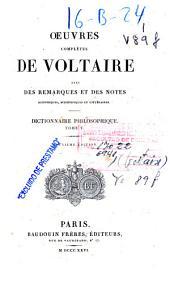 Oeuvres complètes de Voltaire: avec des remarques et des notes historiques, scientifiques et littéraires. Dictionnaire philosophique, Volume5