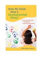 Does My Child Have a Developmental Delay  PDF