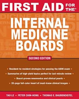 First Aid for the Internal Medicine Boards Book