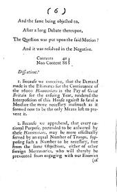 The Lords Protest on a Motion, that it is the Opinion of this House, that the Continuing the Sixteen Thousand Hanoverians in the Pay of Great Britain is Prejudicial to the True Interest of His Majesty: Useless to the Common Cause, and Dangerous to the Welfare and Tranquility of this Nation. Die Martis 31 Januarij 1743, Volume 2